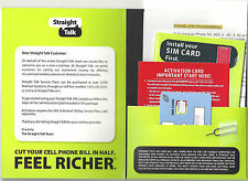 Straight Talk AT&T Nano SIM for iPhone 5/5C/5S/6/6+/7/7+ 4G LTE