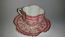Beautiful Alexandra Shape Shelley Wileman Style demi tasse pink cup saucer 1890