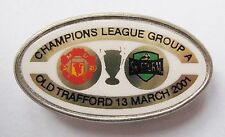 MANCHESTER UNITED v STURM GRAZ Champions League 2000/2001 Football Pin Badge