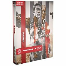 Looper: MONDO X SteelBook Series #001 [Blu-ray + DVD + Digital, 2-Disc] NEW