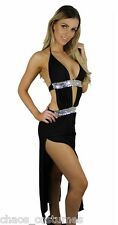 SEXY STRIPPER DANCER ADULT INTIMATE EXOTIC EROTIC GOWN LONG DRESS 6 8 10 12