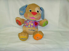 2008 Mattel Fisher Price Laugh N Learn Musical Electronic Puppy Dog Plush
