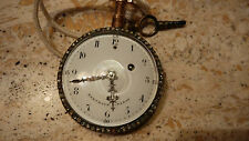 Ferdinand Berthoud à Paris Enamel Gold Pocket Watch repetition hours & quarters