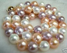 "8MM South Sea AAA Multi-Color SHELL PEARL NECKLACE 18"" LL005"