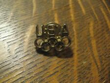 Vintage 1970's United States USA Olympic Sports Team Athlete Gold Lapel Hat Pin