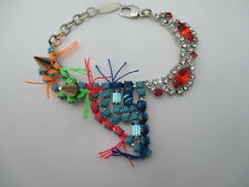 JOOMI LIM Dreams Crystal & Fringe Crystal Spike Bracelet NWOT $250 Multi Color