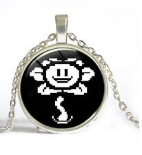 Undertale Cabochon Silver Glass Chain Pendant Necklace Dd 396