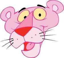 "Pink Panther Cartoon Car Bumper Sticker Decal 5"" x 5"""