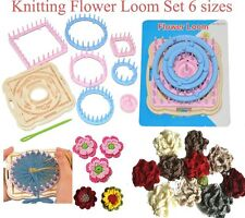 Knitting Flower Pattern Loom Set,Round Square Hexagon 6 Size,Flower Pattern Tool