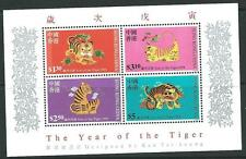 HONG KONG SGMS919 1998 YEAR OF THE TIGER  MNH