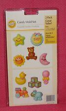 Baby Chocolate Candy Molds,2 pack,Clear Plastic,Wilton,Bon Bon,2115-1605,Shower