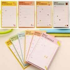 Newly Weekly Daily Plan Schedule Check Stick Bookmark Pads Sticky Notes