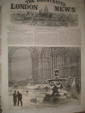 Ruins of the Tropical department Crystal palace after snow storm 1867 print R Y4