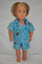 "American Girl Doll Our Generation Journey Girl 18"" Boy Dolls Clothes Summer Pj's"