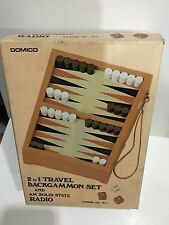 VINTAGE NOVELTY RADIO AM(MW)- BAND WITH BACKGAMMON GAME FROM 1970s NEW WITH BOX