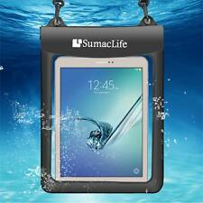 "10.1"" Black Waterproof Pouch Dry Bag For iPad Pro 9.7"" Samsung Galaxy Tab E 9.6"""