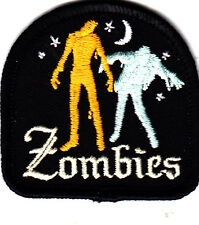 """ZOMBIES"" PATCH - HALLOWEEN-Iron On Embroidered Patch-Holiday,Scary, Fun"