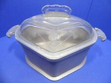 Vintage Guardian Service Triangle Trio Cookware roaster Glass Cover Lid