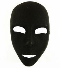 Plain Black Face Mask Fancy Dress Theatre