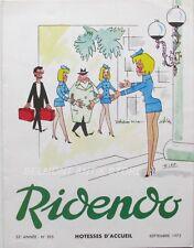 Ridendo n°395 - 1972 - Hotesses d'acceuil  Lep - Revue gaie pour le Médecin