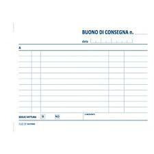 BLOCCO BUONI CONSEGNA CM.12X17 50 FG.CARTA CHIMICA 2 COPIE CF.30 PZ.