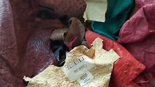 Genuine ostrich leather remnants, assorted ostrich scraps, **REAL LEATHER**