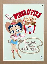 Betty Boop Wings O' Fire - Tin Metal Wall Sign