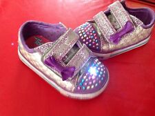 Skechers Twinkle Toes Toddler Girl Shoes Light Up, UK 4