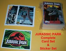 JURASSIC PARK Trading Card Set & Sticker Set- Dinosaurs
