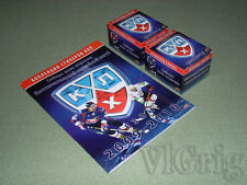 2009 2010 Russian Hockey KHL sticker Upper Deck - empty album + 2 boxes