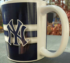 MLB NEW YORK YANKEES 11 OZ BIG AND SMALL LOGO COFFEE MUG BLUE WHITE
