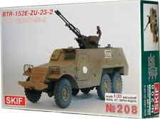 BTR 152 V1 WITH ZU-23-2 AA GUN (EGYPTIAN MKGS) 1/35 SKIF RARE!