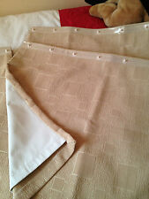 B/New Touring Caravan Curtains,Beige Chennille,blackout lining x 4 pairs   SALE