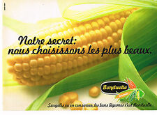 PUBLICITE ADVERTISING 034   1979   BONDUELLE surgelés & conserves le MAIS