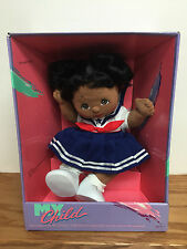 Rare Vintage ~ 1985 Mattel MY Child African American Doll ~ Clean Factory box!