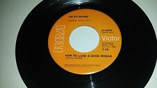 JIM ED BROWN How To Lose A Good Woman / Morning RCA 9909 RARE COUNTRY 45