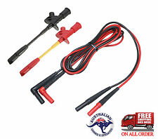 Test Neddle clip probes with Fluke leads TL224 Multimeter Automotive cable