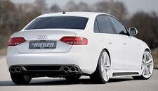 Rieger Heckeinsatz im Carbon-Look Doppelendrohr links/ rechts für Audi A4 B8
