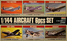ARII 1:144 SCALE 6 WWII AIRCRAFT ASSORTMENT PLASTIC MODEL KITS ASSEMBLY REQUIRED