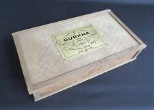 Gurkha Wood Cigar Box - 2001 Estate Select Vintage Reserve (Empty)