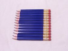 """100 """"Royal Blue"""" Golf Pencils with Erasers"""