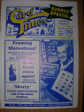CARD TIMES MAGAZINE FORMERLY CIGARETTE CARD MONTHLY No 25 JULY / AUGUST 1991
