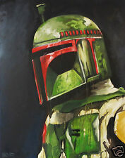 Andy Baker star wars boba fett Print Painting Street Art for glass frame
