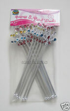 12 Plastic Princess Queen 5 Point Wands Party Goody Bag Favor Costume Supply