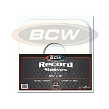1 Pack of 50 BCW 33 rpm LP Record Album Inner Sleeves Paper with hole