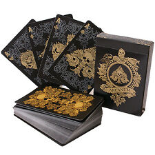 Arcanum Deck - Black - Playing Cards - Magic Tricks - New