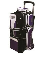 Storm Rolling Thunder 3 Ball Bowling Roller Bag Color Black Purple