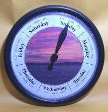 DAY OF THE WEEK CLOCK Red Sky at Morning Sailor take Warning great gift idea