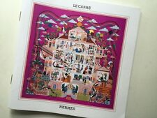 Authentic Le Carre Hermes Spring Summer 2015  Scarf Catalog Booklet Maison Carre