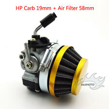 19mm Carby Carburetor Air filter For 49cc 50cc 60cc 66cc 80cc 2 stroke Bicycle